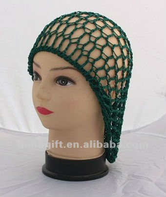 Crochet Hair On Net Cap : Crocheted Snood Cap Hair Net For Women (Green),View Crochet Hair Snood