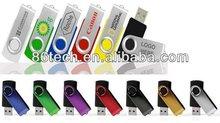 most classic various colors swivel usb flash drive, rotate USB flash drive