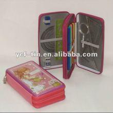 zipper clear pencil case