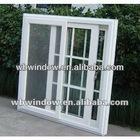 modern design pvc sliding window, office sliding window with screen