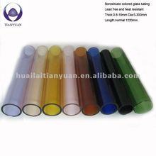 cutting 4mm thick coloured borosilicate glass tubes