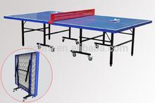 plegable al aire libre mesa de ping pong tenis de mesa con equipos de metal neto