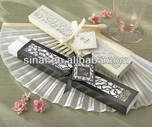 Hand Fan Wedding Favors / Hand Fan Wedding Gift / Luxurious Wedding Gift Silk Fan