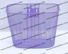 purple steel bike basket
