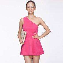 Yigelila 2013 mode dames une épaule Polyester robe patineuse 632
