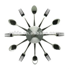 fork and spoon wall clock with battery mechanism
