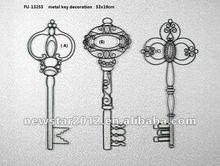 FU-13255 Metal /wire key shape wall art decoration