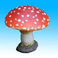 Red Mushroom Resin Garden Ornament