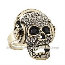 2012 fashion punk skull rings for women