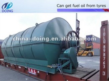 2012 fully automatical old waste tyre pyrolysis recycling machine to crude oil