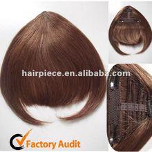 Clip on Hairpiece Fringe Hair Bangs, Real 100 Human Hair Bangs