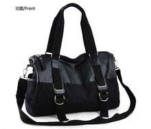 2012 Fashion canvas Black Men's shoulder bag