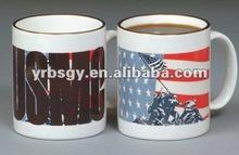 HOT HOT HOT!!! USA Marines Wonder Ceramic Color Changing Mug,Ceramic Magic Coffee Mug