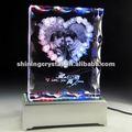 hermoso de cristal marco de fotos de regalo de boda