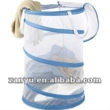 Foldable mesh laundry bin