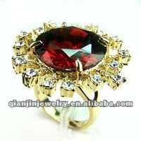 fashion gold bad ring zircon gold ring