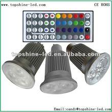 E27 GU10 MR16 RGB led spot lighting 16 colors