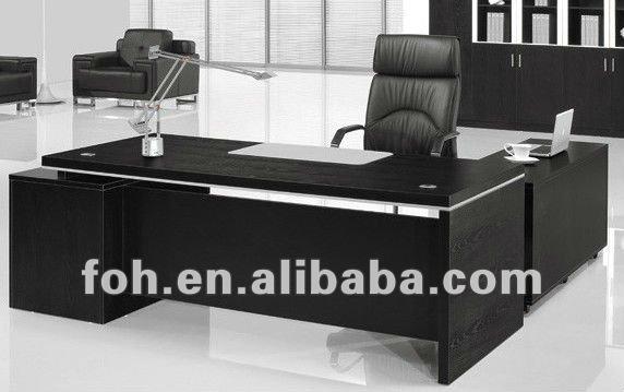 Black office desk modern office desk hot sale office table fohba22