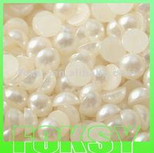 2012 hotsale nail art flatback plastic pearl
