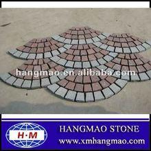 billige granit pflastersteine auf mesh