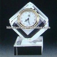 Fashion Cut Cube Crystal Clock