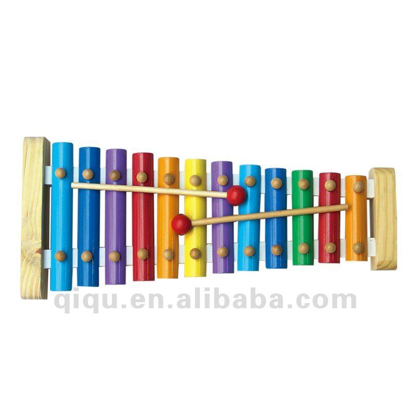 xilofone em madeira colorida de instrumentos musicais de brinquedo para crianças