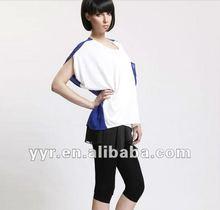 2012 Fashionable Chic Short Sleeve Colour Blocking t shirt