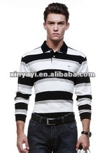 Yarn dyed cotton mens fashion polo