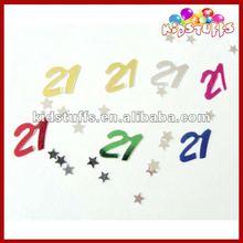 2 * 2 cm No. 21 ECO PVC Confetti do partido decoração de mesa