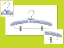 LH084-2 satin padded wedding dress hangers