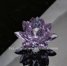Crystal art & craft lotus flower decoration.beautiful lotus adornment