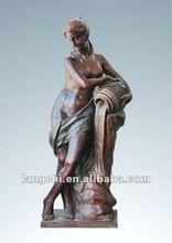 Garden deco bronze statues nude lady TPLS-009 life size bronze sculpture