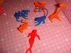 Plastic 7 asst. animals shape swizze markers