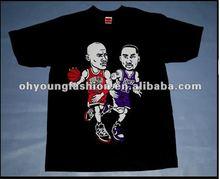 new discount brand 100% cotton black sublimation Jordan Kobe photo tee short sleeve o-neck t-shirt for men
