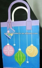 2014 popular recyclable paper flat tape handle carrier bag