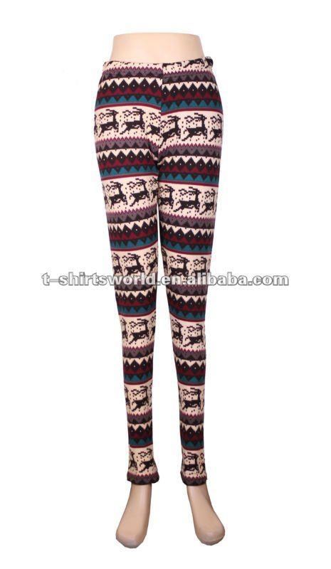 Malha das senhoras da forma calças apertadas& meninas apertadas calças legging fm fábrica de bsci