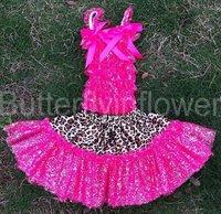 Fashion glitter top with glitter skirt for girls ballet tutu skirt for children dance skirts