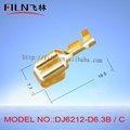Dj6212- d6.3b/engarzado c de latón eléctricos de cable común kits de la terminación de conectores