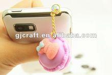 Simulation food Macaron dust-proof plug 2012 popular stylish mobile decoration