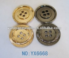 2012 popular beautiful 4-holes metal button