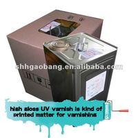 paper coating high gloss acrylics UV varnish