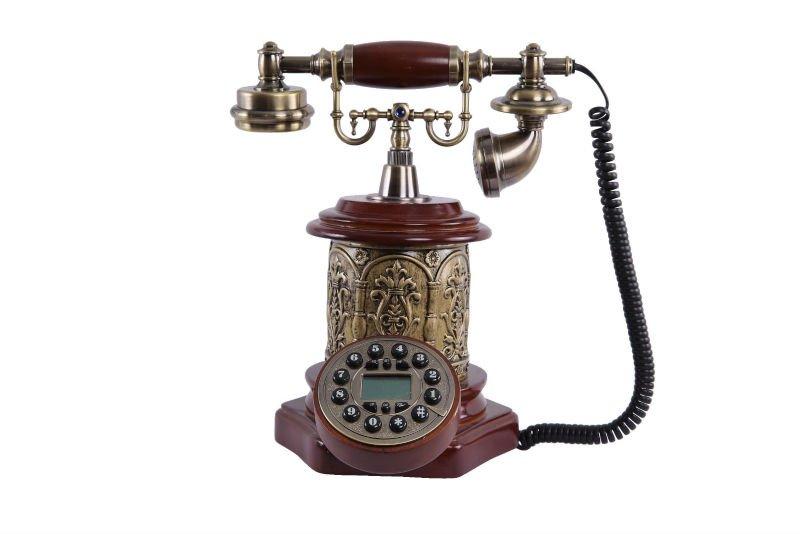 Retro decoración del hogar teléfonos antiguos-Teléfonos Alámbricos ...