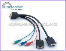 DVI TO VGA RCA Cable, DVI Monitor Cables to DVI / VGA / RCA