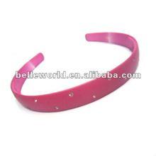 fashionable plastic headband with rhinestone for womens