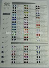 2012 new hotfix rhinestone color chart
