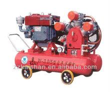 Portable piston air compressor diesel engine