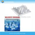 glas schachspiel