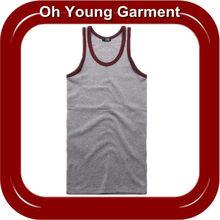 single jersey cheap tight fit plain tank tops for men