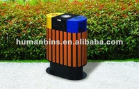 plastic wood ouside recycling bin / ashtray stand