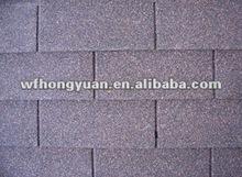 china grey three-tab asphalt fiberglass roofing tile